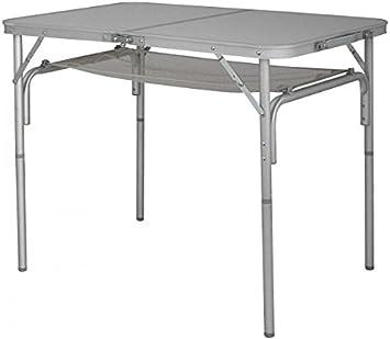 Eurotrail - Mesa plegable de aluminio para camping con bandeja de ...