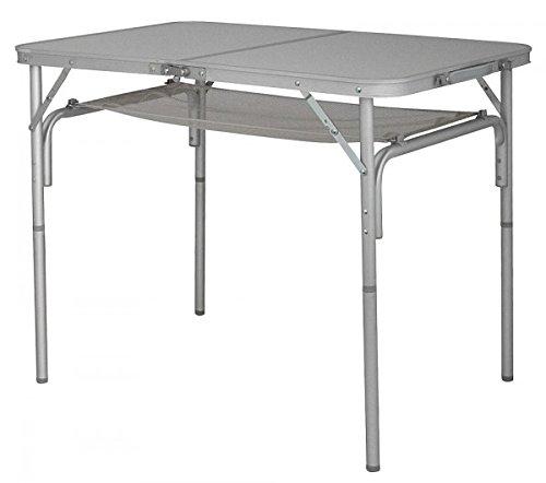 Mesa plegable Mesa de camping de aluminio con Red estante ...