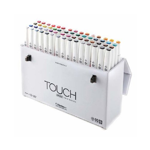 ShinHan TOUCH TWIN Brush Marker 60 Color Set B by TOUCH