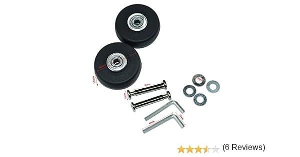 Ruedas de repuesto Lovinstar para maleta, diámetro exterior de 50 mm (50 x 18 x 6 mm), incluyen ejes y llaves de reparación: Amazon.es: Bricolaje y ...