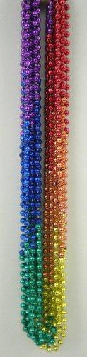 33 inch 7mm Round Metallic Rainbow 6 Section
