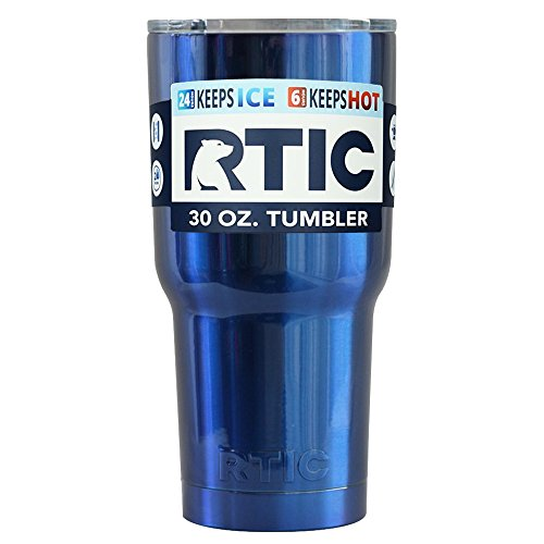 RTIC Blue Metallic 30 oz Stainless Steel Tumbler Cup