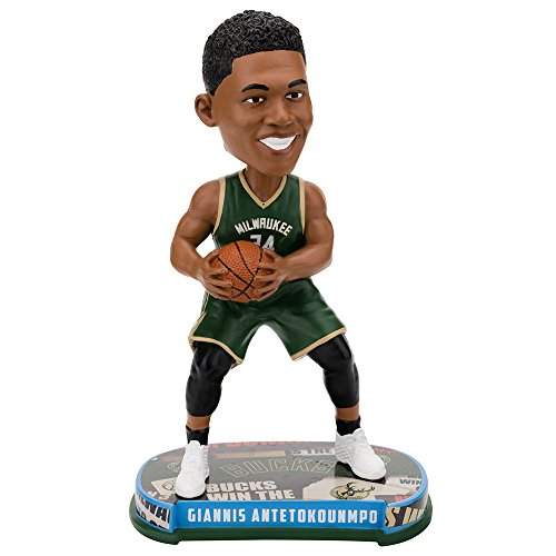 Giannis Antetokounmpo (Milwaukee Bucks) 2017 NBA Headline Bobble Head by Forever Collectibles by Forever Collectibles