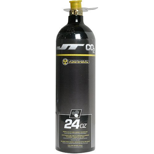JT Co2 Tank 24oz/ W/Repeater Retail Pack, Black by JT