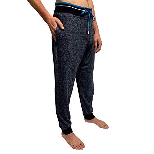 Bottoms Out Mens Sweat Pants Lounge Pants Hangout Mens Joggers Loungewear Sweatpants for Men Navy/Turquoise