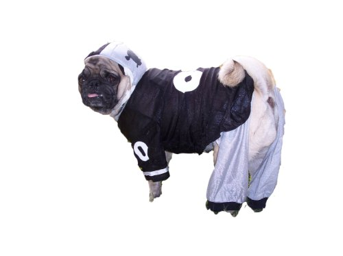 Dog Gone Cute by Lou's Doggie Boutique 4 Piece Football Jersey, Pants, Helmet and Toy Ball Medium, My Pet Supplies