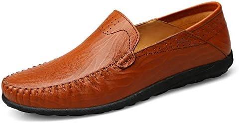 運転クラシック快適な男性カジュアルシューズローファー男性の靴品質分割革の靴男性フラット柔軟な経験豊富なステッチソリッドカラーラグソール丸いつま先