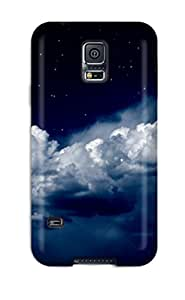 Tpu LindsayCCook Shockproof Scratcheproof Clouds Night Hard Case Cover For Galaxy S5