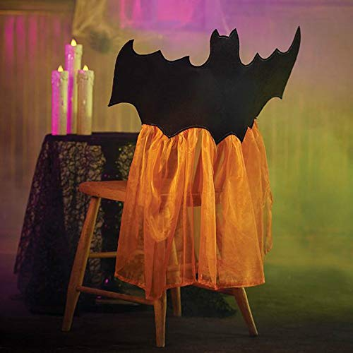Home Sensibles Cute Halloween Decorations Bat Chair Covers Set of 2]()