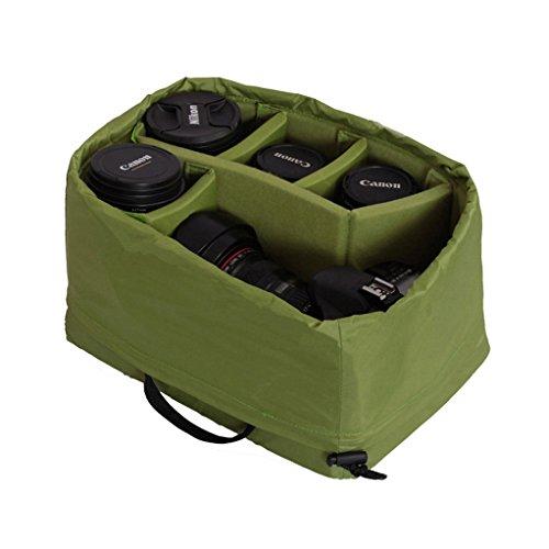 Wasserdicht Stoß Partition Gepolsterte Kamera-Taschen SLR DSLR Insert Schutztasche mit Top-Griff für DSLR Einstellung Objektiv oder Blitzlicht (Big)