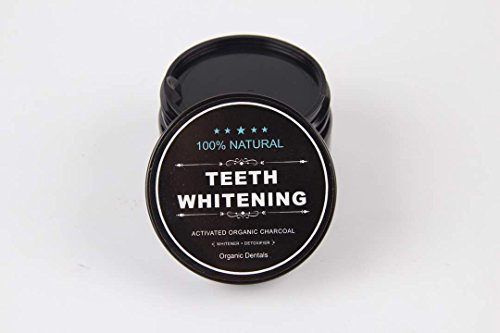 Organic Dentals Activated Charcoal Teeth Whitening Powder - Organic Activated Detoxifier Charcoal Tooth