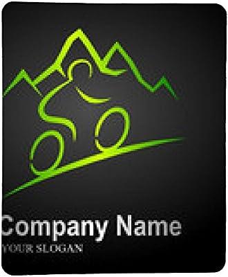 alfombrilla de ratón bicicleta de montaña logotipo 2 (fondo negro ...