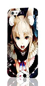 iPhone 5C 3d Case ~ Anime Girl Painting ~ ABCone Personalized Custom iPhone Plastic Phone Case Back 3D Rough Diy Cover for Iphone 5C WANGJING JINDA