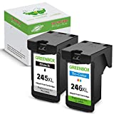GREENBOX Remanufactured PG-245XL CL-246XL PG-243 CL-244 Ink Cartridge (1 Black+1 Tri-Color) Used in PIXMA MG2520 MG2920 MG2922 MG2924 MG2420 MG2522 MG3022 MG2555 MX492 IP2820
