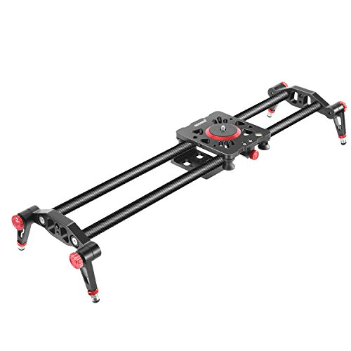 Neewer 31.5 inches/80 centimeters Carbon Fiber Camera Track Slider Video...