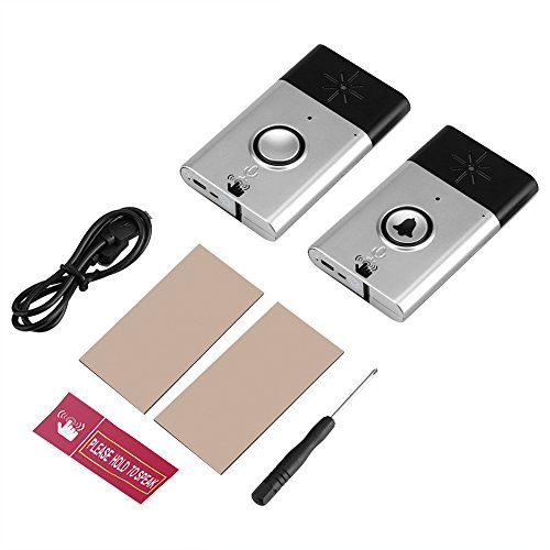 Wireless Doorbell Cordless Door Chime Kit with Sound Voice Intercom Function Home Security Accessions (Wireless Intercom Kit)