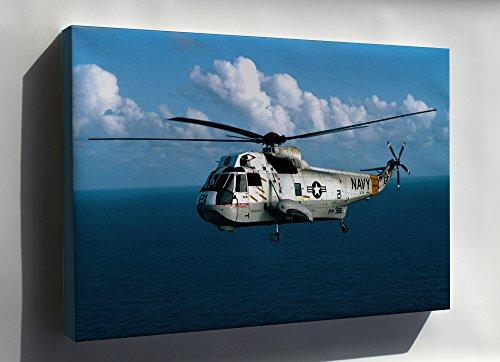 Canvas 24x36; U.S. Navy Sikorsky Sh-3G Sea King Helicopter 1983 (Sikorsky Sh 3 Sea King Navy Helicopters)