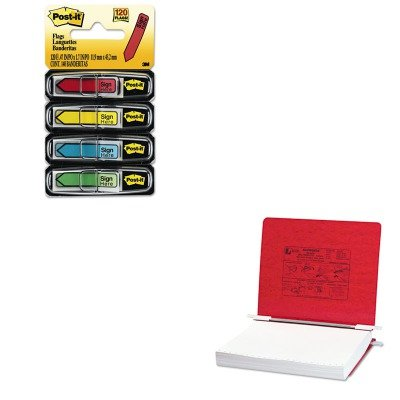 KITACC54129MMM684SH - Value Kit - Acco Pressboard Hanging Data Binder (ACC54129) and Post-it Arrow Message 1/2amp;quot; Flags (MMM684SH) by ACCO Brands