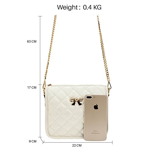Womens New Design Messenger Handbag Bags Ladies Ivory 2 Crossbody Cross Over Shoulder Body CXzUnax4qw
