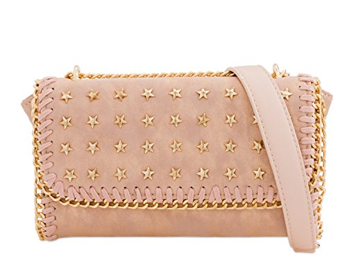 Bag Chain Clutch 2292 Women's Champagne Handbags LeahWard Star Strap Cross Body SqaRgwC