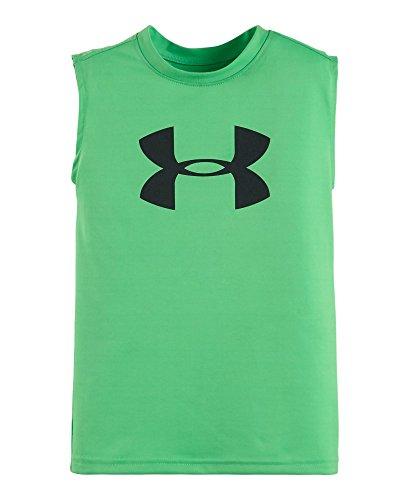 Under Armour Little Boys' Big Logo Tank, Green Energy, 5