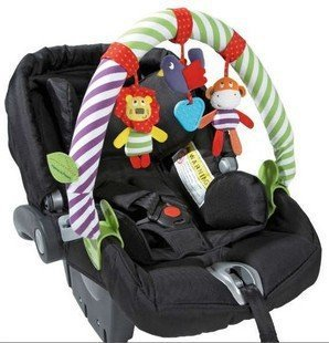 MUSICAL BABY Stroller Crib Activity Bar Toys Car Seat Arch Hanging Rattle Toy Gift For Newborn