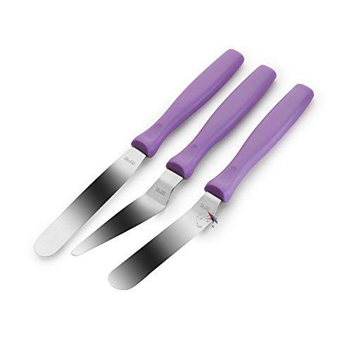 SIDCO ® 3er Set Streichpalette Winkelpalette Streichmesser Tortenmesser Glasurmesser