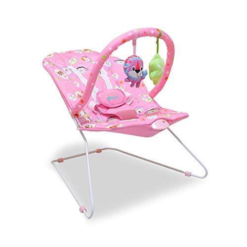 Cadeira bebê Descanso Musical Vibra 11kg Rosa Lion Star Baby