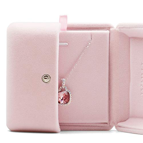 Oirlv Pink Velvet Jewelry Packaging Box Pendant Earrings Display Storage Case Pendant Gift Box
