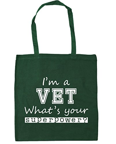 Tote 42cm Your Vet Bottle litres x38cm Shopping I'm Beach Green HippoWarehouse Superpower a 10 Gym What's Bag qnYwFgxB4