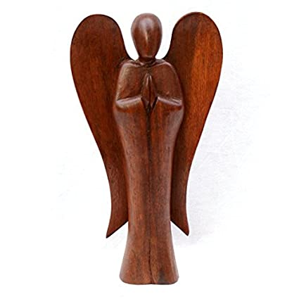 Hand Carved Wooden Angel Amazoncouk Kitchen Home