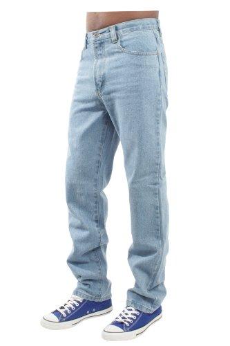 Blue Circle Herren Jeanshose für Arbeit Bauer Mechaniker BCB2 - Schwarz, 34W x lang