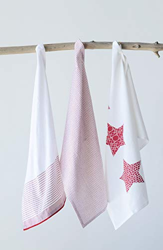 Creative Co-Op Cotton Tea Towel, Set of 3
