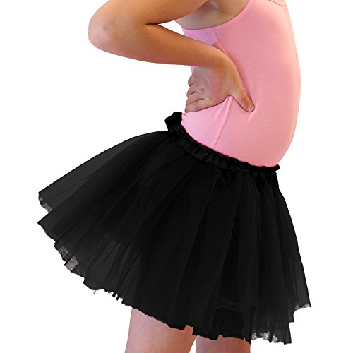 Hairbows Unlimited Black Dance or Ballet Tutu for Girls / Kids / Toddlers - Cute (Christmas Tap Dance Costumes)
