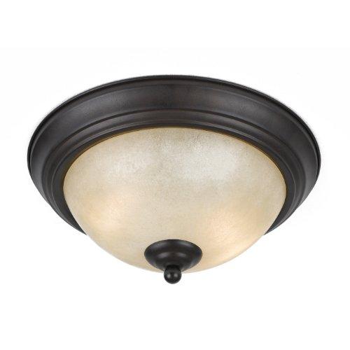 Triarch 33246 2 Light Value Flush Mount Ceiling Light, English
