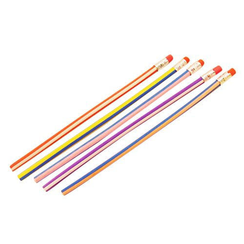 Dovewill 5本セット 面白い 柔軟 曲げ可能 ソフト 絵画 鉛筆 子供 おもちゃ ギフト 18センチメートル