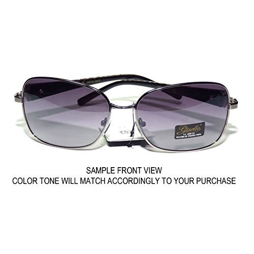 5e0c4eed995  GS13-S4 Giselle Eyewear ® Sexy Zebra Aviator Women s Sunglasses -  Metal Plastic