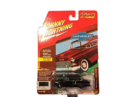 1955 Chevy 2 Door Sedan (1955 Chevrolet 2 Door Sedan Red 1800 MADE 1/64 By Johnny Lightning JLSP005 A)
