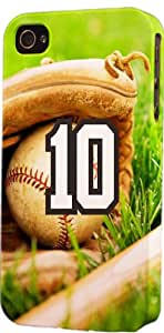Baseball Sports Fan Player Number 10 Snap On Flexible Decorative iPhone 6 Case