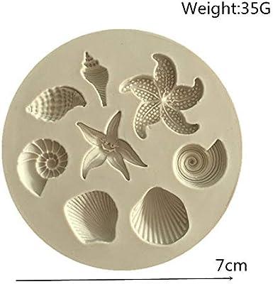 Molde para fondant de concha de mar de concha de conchas marinas ...