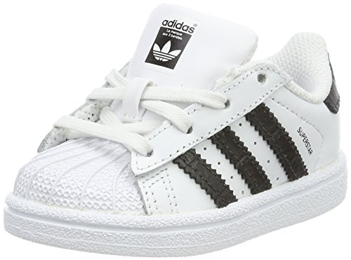 adidas Unisex Baby Superstar Sneaker Weiß (Footwear White/Core Black)