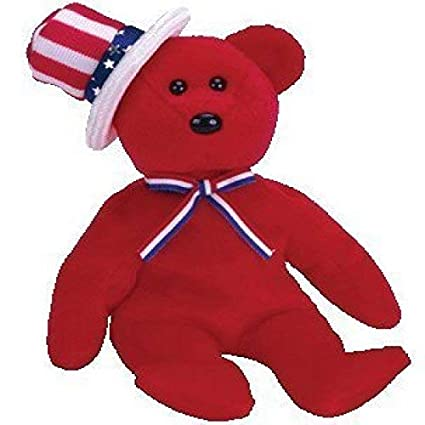 Amazon.com  Ty Beanie Babies Sam - Bear Red  Toys   Games e40079a6bc17