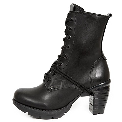 Women's Up Heavy S1 Boots Lace TR001X Heel M Rock Ladies Gothic Punk New Rock Ankle Black Urban nqgPXtO0
