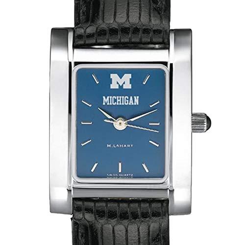 M. LA HART Michigan Women's Blue Quad Watch with Leather Strap