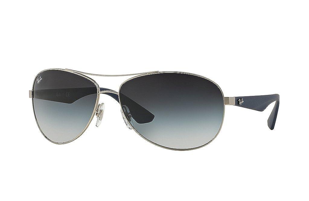 3fa1bda14c Ray Ban RB3526 019 8G 63mm Matte Silver Gray Gradient Sunglasses Bundle-2  Items  Amazon.ca  Clothing   Accessories