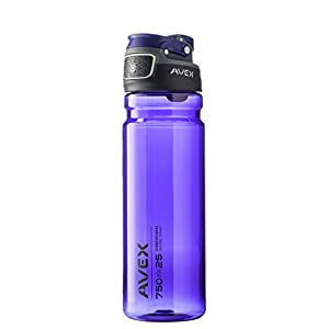 AVEX FreeFlow Autoseal Water Bottle, Purple, 750ml/25 oz