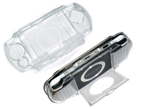 Cables4PC New Clear Crystal Plastic Hard Case For Sony PSP (Psp 3000 Crystal)