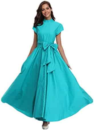 7f8bcad3 Zoom Young Women Plus Size Half-High Neck Waist Bow Short Sleeve Big  Pendulum Banquet