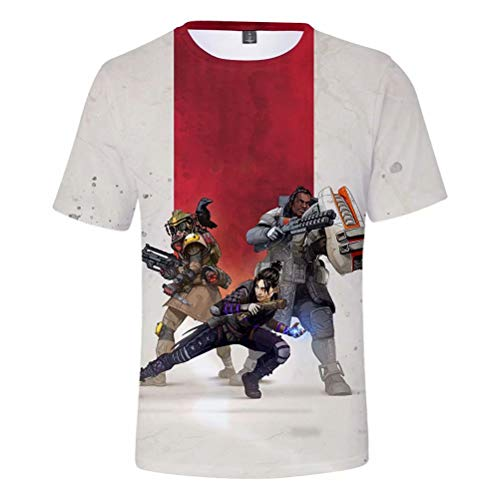 Hot Game Cosplay Short Sleeve T Shirts - Apex 3D Printed Mens Womens Crew Neck Tee Shirt ()