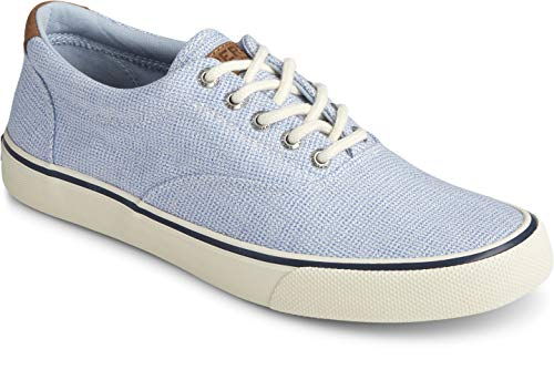 Sperry Men's Striper II CVO Gingham Sneaker, Blue, 8 M US